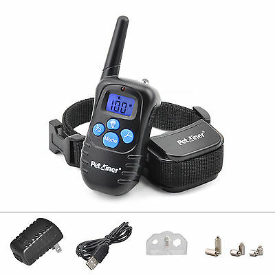 Rechargeable Electric E-Collar 100LV Shock Vibra Remote Pet Dog Training Collar