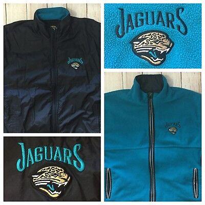 918067ad5 Vintage Pro Player Mens Large Jacksonville Jaguars Reversible Jacket