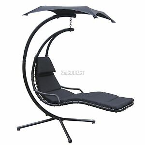 foxhunter jardin balan oire hamac h licopt re suspendu chaise si ge soleil noir ebay. Black Bedroom Furniture Sets. Home Design Ideas