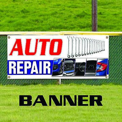 Auto Repair Inspection Service Technicians Automotive Business Banner Sign