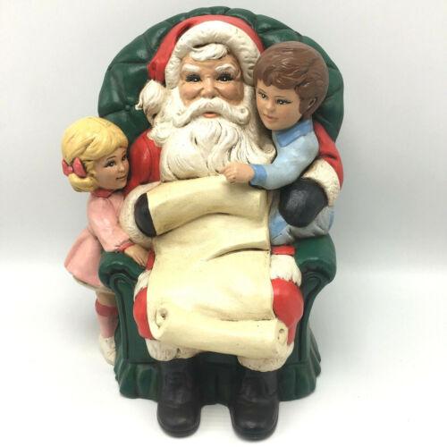 Vintage Ceramic Santa Chair Children Naughty Nice List Boy Girl Atlantic Mold