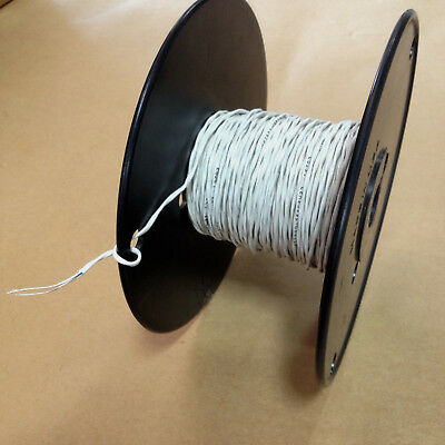 94 Ft M27500-26sc2u23 White 26awg 2c 1938 Silver Plated Aircraft Cable Wire