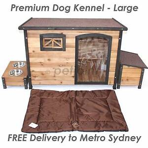 L XL Wooden Dog Timber Kennel Extra Large Outdoor Pet Wood House Sydney City Inner Sydney Preview