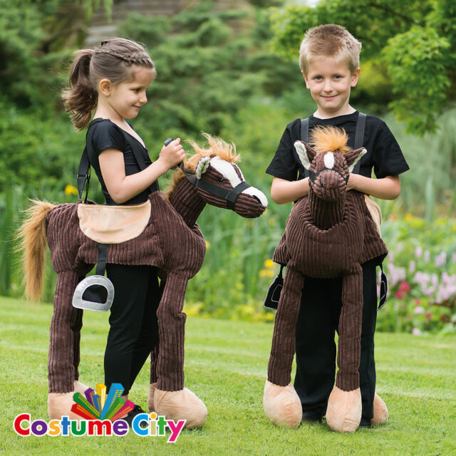 Childs Ride On Play Pony Western Cowboy Knight Horse Fancy Dress Party Costume
