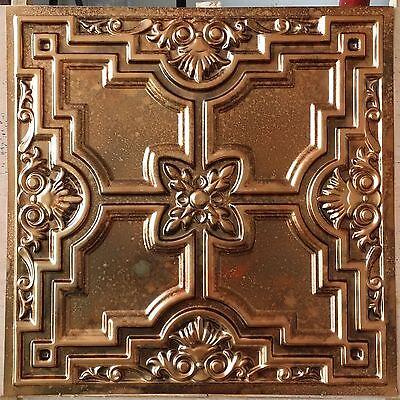 PL16 Faux tin metallic 3D fleck copper ceiling tiles decor wall panel 10tile/lot