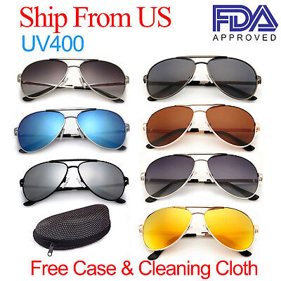 Polarized Aviator Sunglasses for Women Men Case Vintage Sports Driving (Polarized Sunglasses For Driving)
