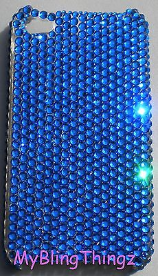 CAPRI BLUE Crystal Bling Back Case for iPhone 5 5S made with Swarovski Elements Blue Crystal Case