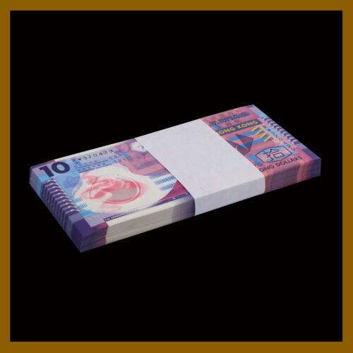 Hong Kong 10 Dollars x 50 Pcs Bundle, 2012 P-401c Polymer Unc