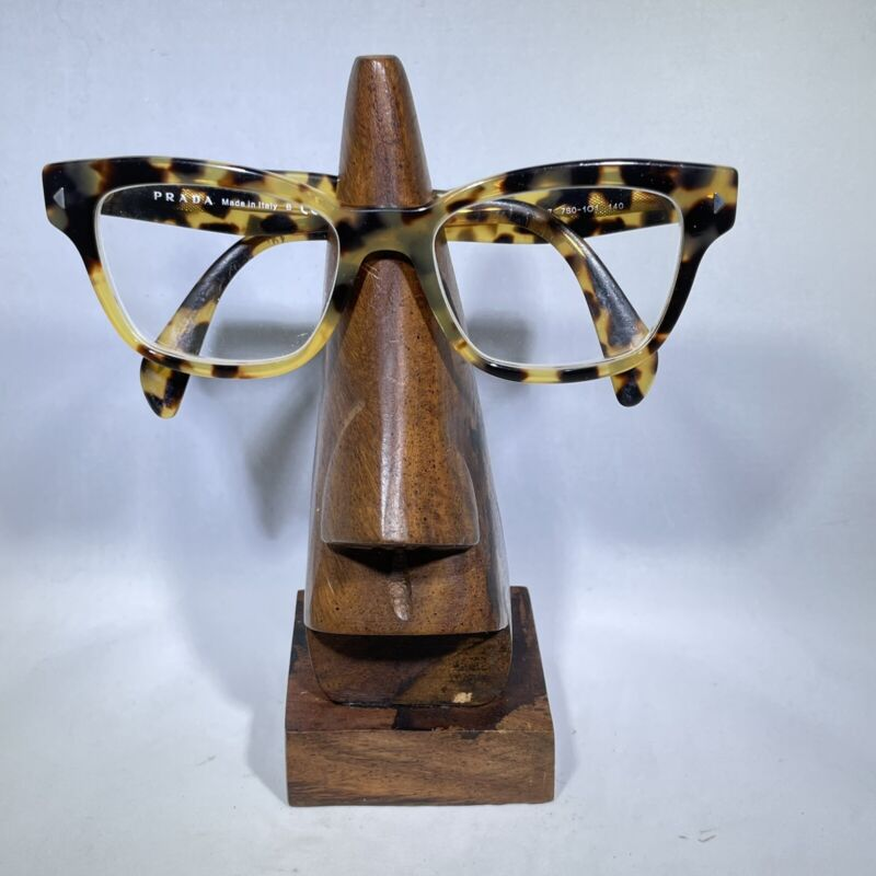 Wooden Nose Shape Spectacles Reading Glasses Holder Stand Display Sunglasses