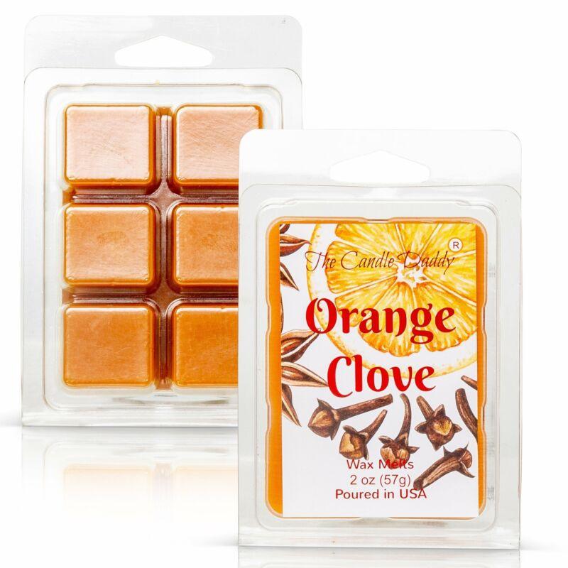 Orange Clove - Spicy Orange Citrus Scented Melt- Maximum Scent Wax Cubes/Melts-