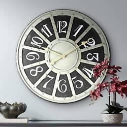 Kester 24 Wide Industrial Metal Wall Clock
