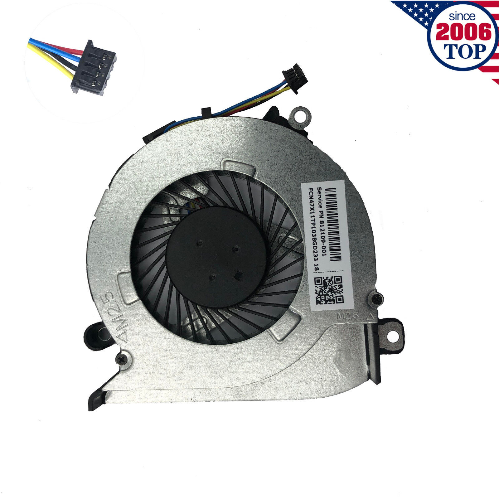 HP 17-G Genuine Laptop CPU Fan 812109-001 TESTED