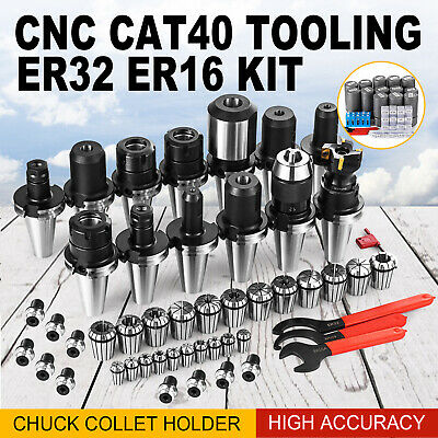 Cat40 Tooling Package Fit Haas Er32 Er16 Collet End Mill Holder Drill Chuck New