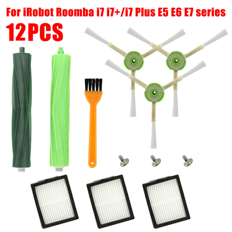 Robot Vacuum Cleaner Replacement Parts For IRobot Roomba Series I7 I7+ E5 E6 Kit