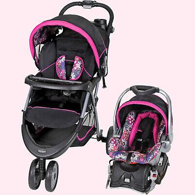 BÉBÉ POUSSETTE + SIÈGE D'AUTO Combo Walking Girl Toddler Travel System Infant Safety