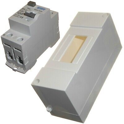 Pole 40 Amp (40 Amp Enclosed Double Pole RCD Metal or Plastic Earth Leakage Protection New)