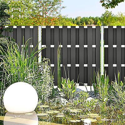 WPC Ibiza Sichtschutz Zaun Element Gartenzaun 180 x