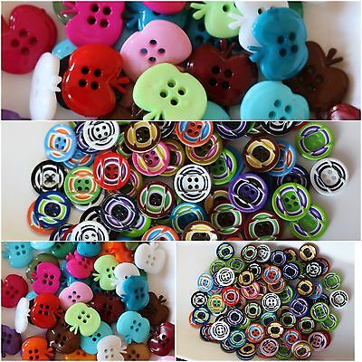 20 x ACRYLIC BUTTONS 15-20mm ,4 Hole Round Sew On Art&Craft,Scrapbooking
