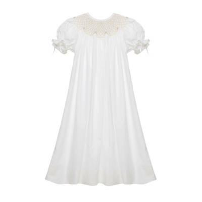 Children's Boutique Dresses (White Smocked Heirloom bishop Dress NEW * boutique)