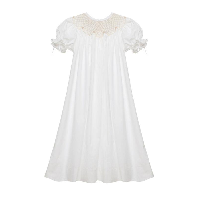 White Smocked Heirloom bishop Dress NEW * boutique *