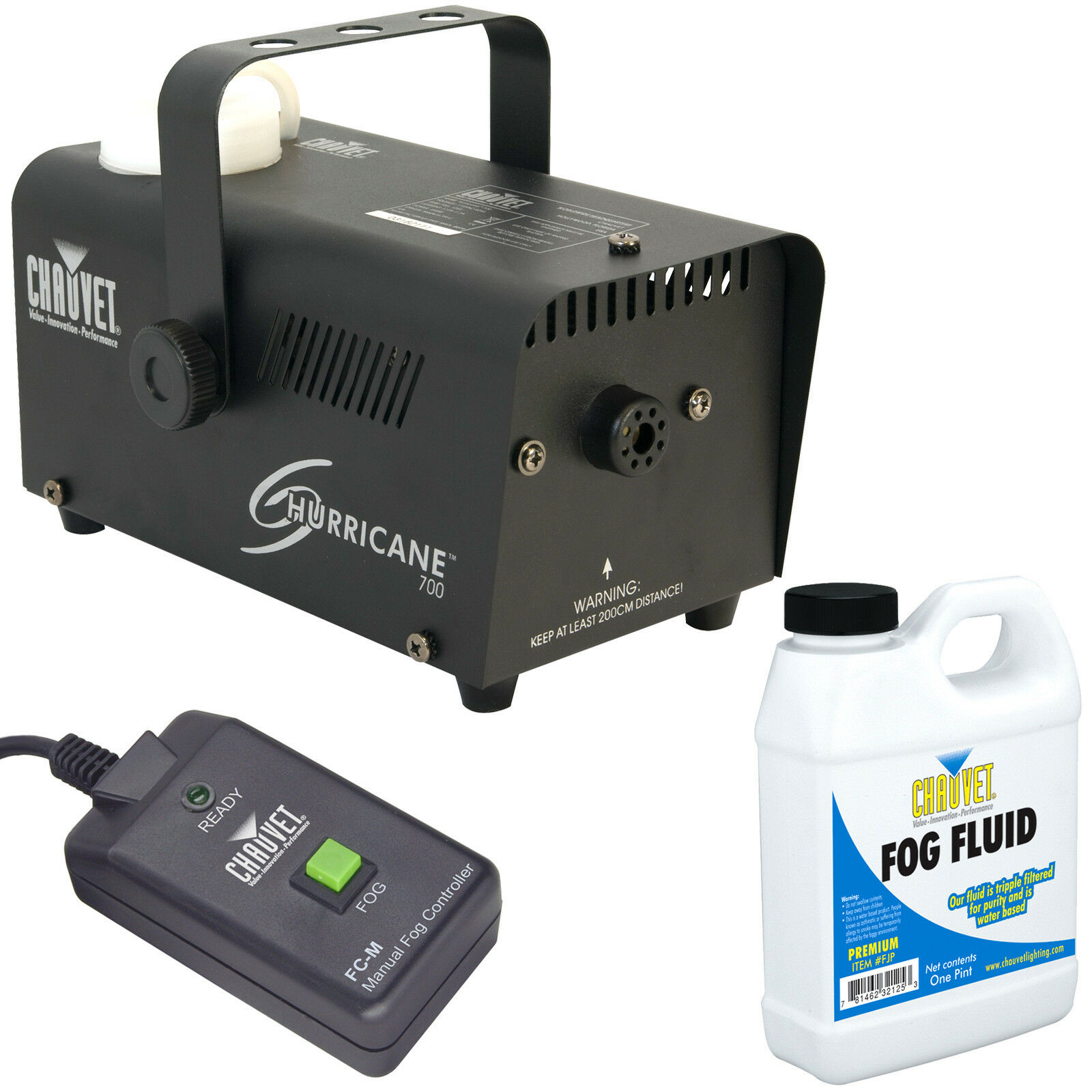 Chauvet H-700 Hurricane 700 Halloween Fog/Smoke Machine with Fluid & Remote
