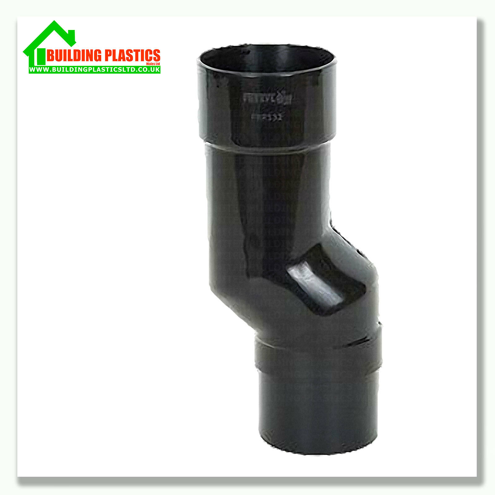 Half Round Black Gutter Downpipe Amp Fittings 112mm