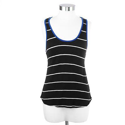 Blu Planet Women's Medium Black Striped Tank (Blu Striped Tank Top)
