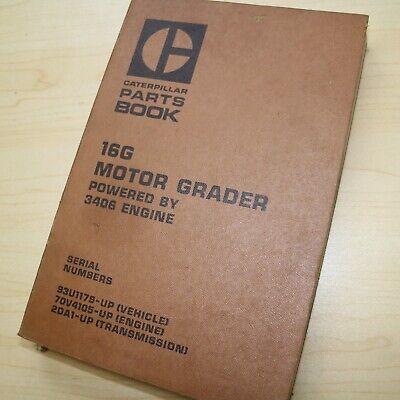 Cat Caterpillar 16g Motor Grader Parts Manual Book Catalog 93u Series Spare List