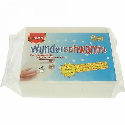 6er Set Wunderschwamm Radierschwamm Putzschwamm Schmutzradierer   12x5x2,5 cm