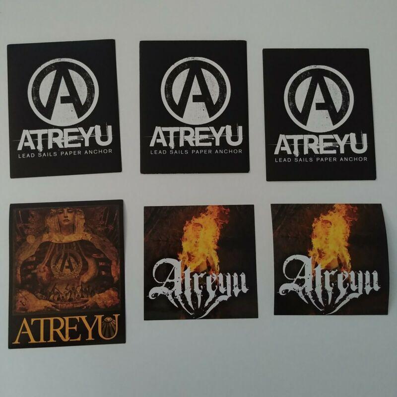 BUNDLE LOT of 6pcs Atreyu Congretation of the Damned Storm Music Stickers