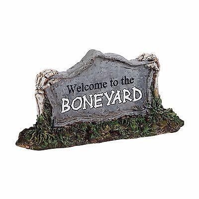 Dept 56 Halloween Willkommen Zum Boneyard #4038900 Feder