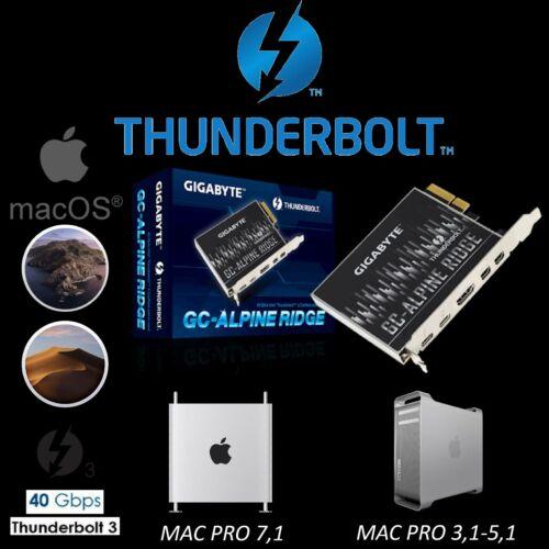 Gigabyte Alpine Ridge Thunderbolt 3 Flashed For Mac Pro 4,1 5,1 USB C Hackintosh