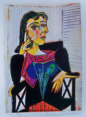 Pablo Picasso DORA MAAR Estate Signed & Numbered Small Giclee Art