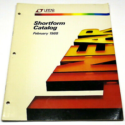 Linear Technology Analog Devices 1988 Shortform Catalog Op Amps Regulators