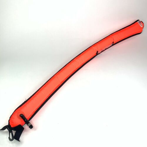 Surface Marker Buoy Signal Tube Safety Sausage Bright Orange 3.5 ft Scuba Dive