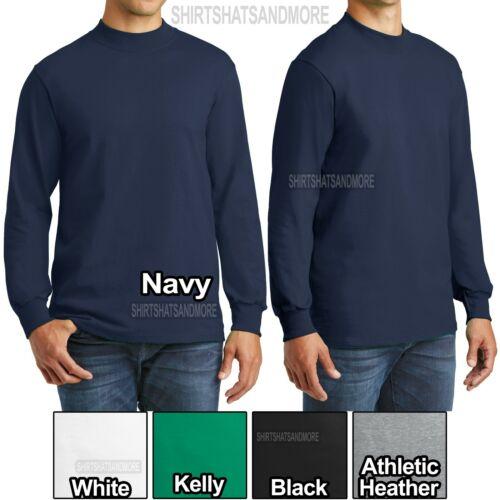 Big Mens Mock Turtleneck Long Sleeve T-Shirt Tee XL, 2XL, 3XL, 4XL
