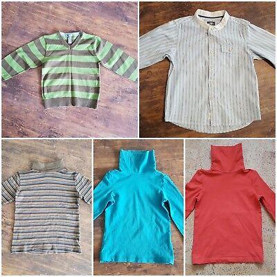 H&M Pullover und Hemd und 3 (alive) Rollkragenshirts Gr. 110 ()