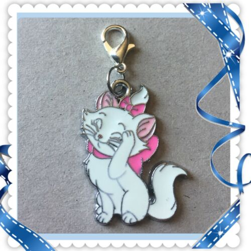 ❤️ Disney Marie The Cat ❤️ Zipper Pull Charm with Lo