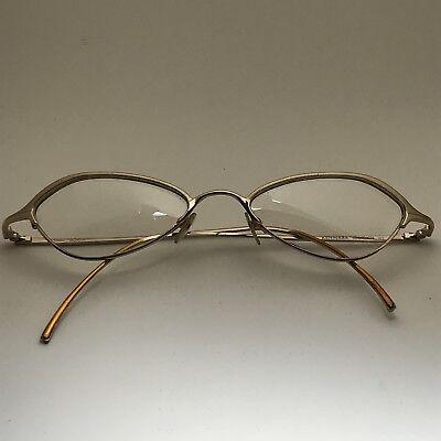 Thalia by Kenmark Princessa Metallic Gold Rim Cat Eye RX Eyeglass Frames - Cat Eye Frames