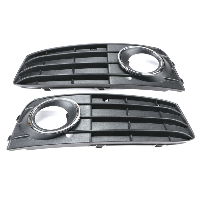 Audi A4 B8 2009-2012 Fog Lights Light Bumper Grilles Grill Set L R Pair