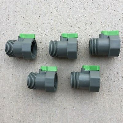 Off Connector (PVC Garden Hose Shut-Off Valve Heavy Duty Water Connector Lot of 5)