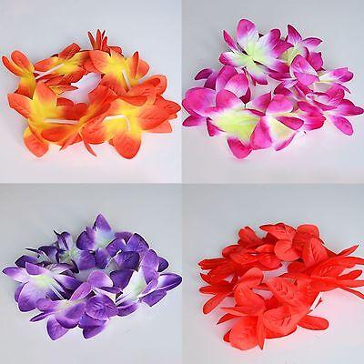 Set of 2 Hawaiian Orchid Crown Lei Flower Lei Pink Purple Red Orange Violet - Purple Leis