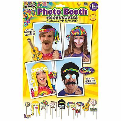 Hippie Hippy Photo Booth Prop Kit Professional Groovy Party Photos Fancy Dress](Hippie Photo Booth)