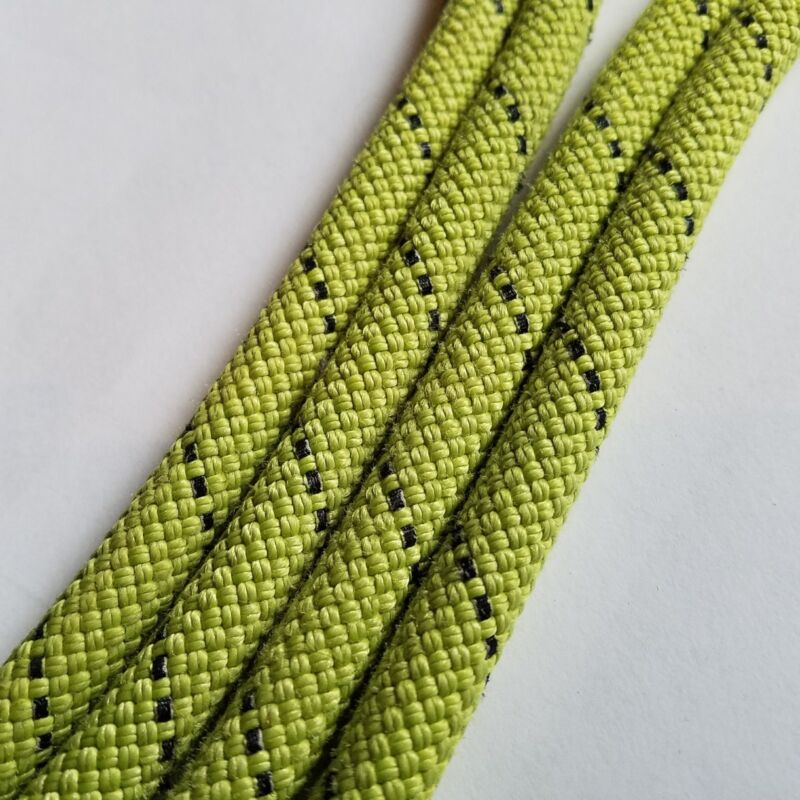 50ft green retired climbing rope for horse lead ropes, dog leashes, crafts, etc
