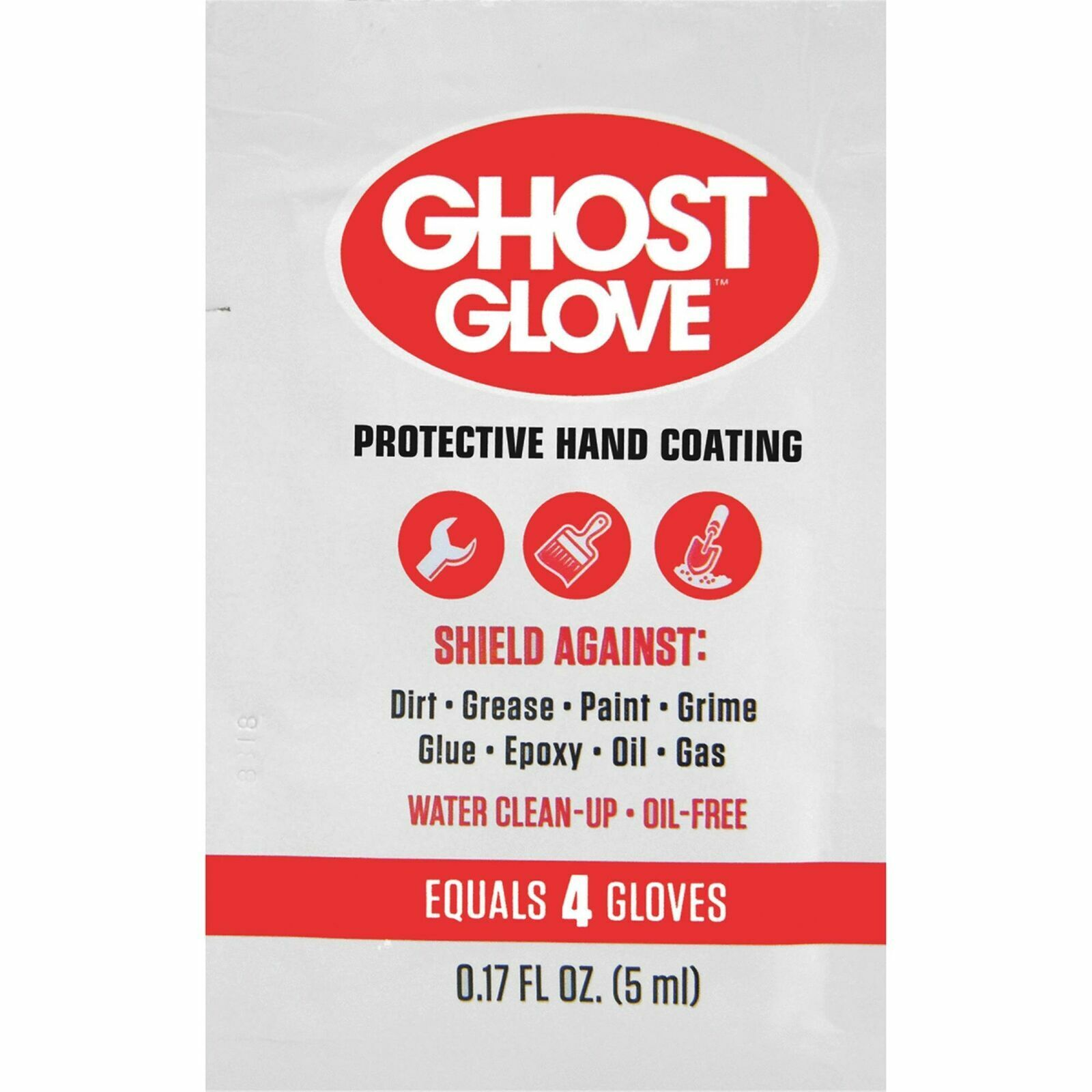 Ghost Glove Protective Hand Coating 0.17 Oz Packets, Each equivalent to 4 Gloves Health & Beauty
