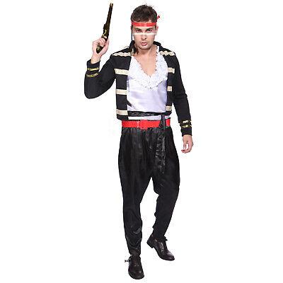 80er Jahre Adam Ant Prince Kostüm Rüschenhemd Hammer Cosplay Fancy - Adams Kostüm