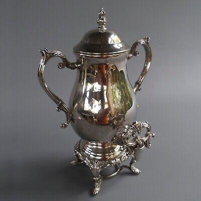 "Antique VTG  F B Rogers Silver Company 1883 Plated Coffee Urn Samovar 16"" Tall"