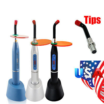 Dental Wireless Cordless Led Cure Curing Light Lamp 2000mw Toosl Optional Tip