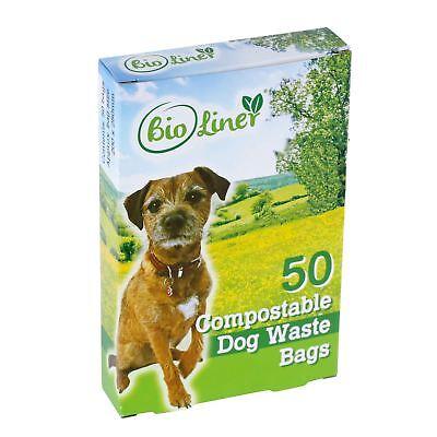 50 x BioLiner Dog Waste Bags – Compostable Dog Waste/Poo Bags – EN 13432