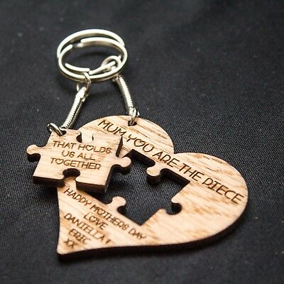 Personalised Oak Keyring Keychain Gift for Christmas Birthday Love Heart Novelty](Xmas Novelties)